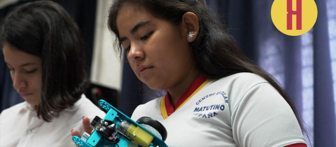 Niñas en robótica